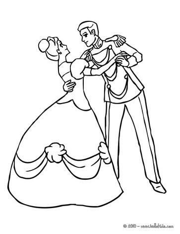 Prince And Princess Dancing Coloring Page