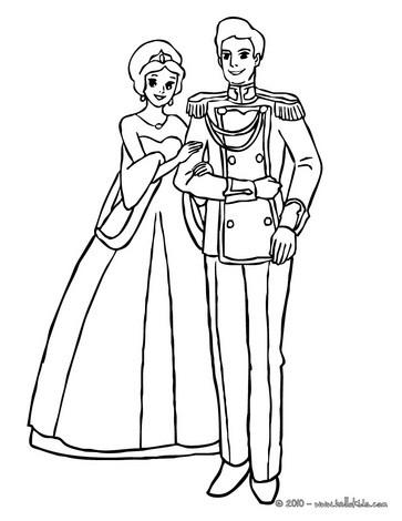 Princes couple coloring page