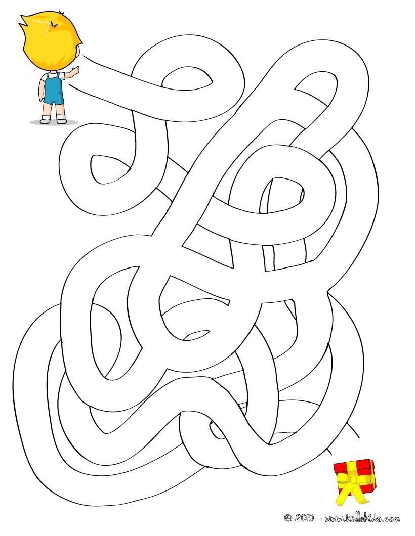 It is an image of Irresistible Preschool Maze Printable