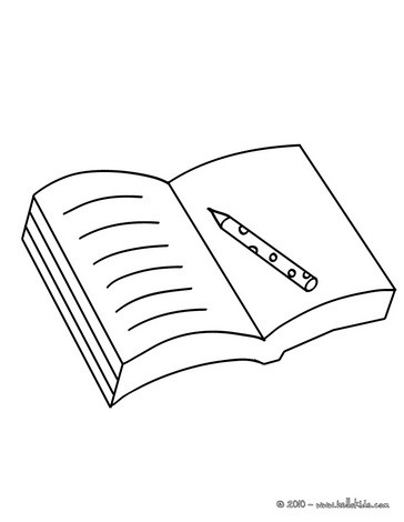 Open Book Coloring Pages Hellokids Com