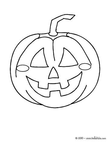 Frightful pumpkin head coloring pages - Hellokids.com