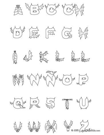 Halloween Alphabet Coloring Pages | Bgcentrum