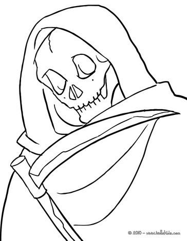 Grim reaper coloring pages Hellokidscom