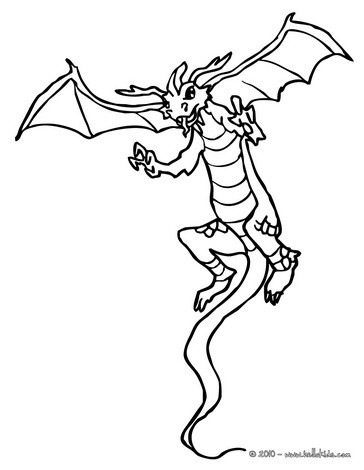 Dragon Coloring Pages on Dragon On Its Back Legs Coloring Page   Dragon Online Coloring Page