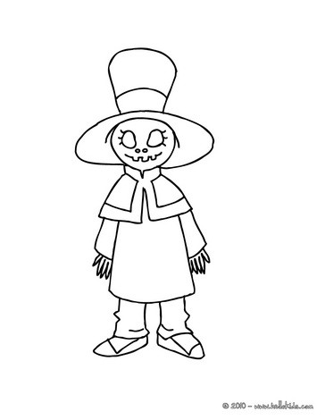 Alive witch doll coloring page