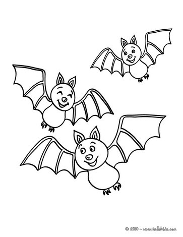 Nocturnal bats coloring pages Hellokids