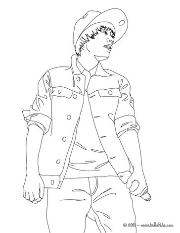Justin Bieber Concert Coloring Page Color Online Print