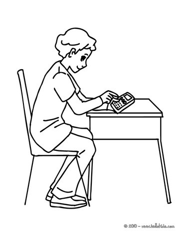Pupil In The Classroom Coloring Pages