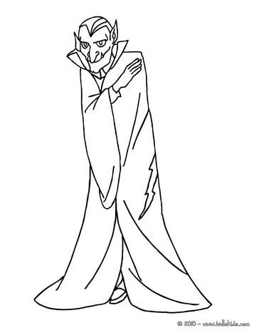 Terrific Dracula coloring page