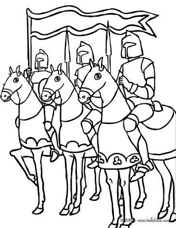 Knight Horse Coloring Pages Sketch