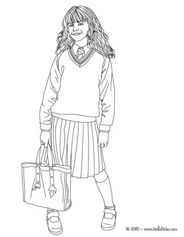 Hermione Grangers Name Coloring Pages Coloring Pages