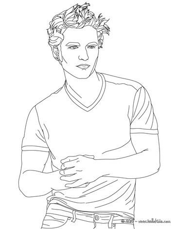 Robert Pattinson Drawing on Robert Pattinson Muscles Coloring Page   Robert Pattinson Coloring