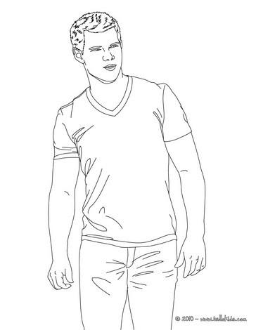 Taylor lautner twilight actor coloring pages  Hellokidscom
