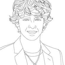 Joe Jonas smiling close-up coloring page - Coloring page - FAMOUS PEOPLE Coloring pages - JOE JONAS coloring pages