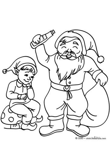 Minions Kerst Kleurplaat Christsmas Sprite And Santa Claus Coloring Pages