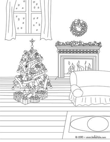 christmas tree light scene coloring page coloring page holiday coloring pages christmas coloring
