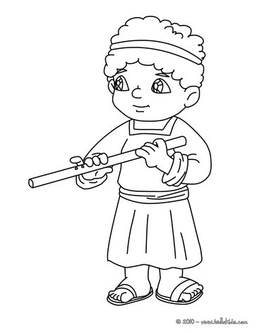 Villager man with flute coloring pages Hellokidscom