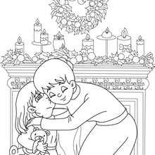 Xmas spirit coloring page