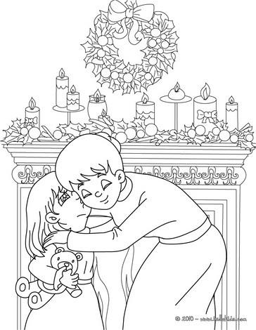 Papa noel poniendo regalos