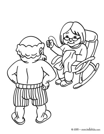 Ms Claus and Santa Claus coloring page