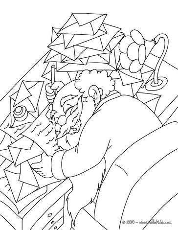 Santa Claus sleeping coloring page