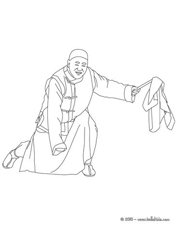 Member of the chinese parade for new year carnival coloring page