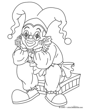 Seated JOKER C coloring page