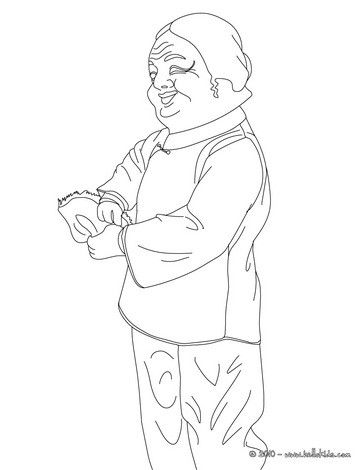 Chinese puppet coloring page