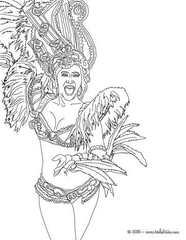 Sambodromo carnival parade coloring page
