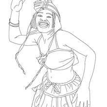 Bahia style samba dancer coloring page