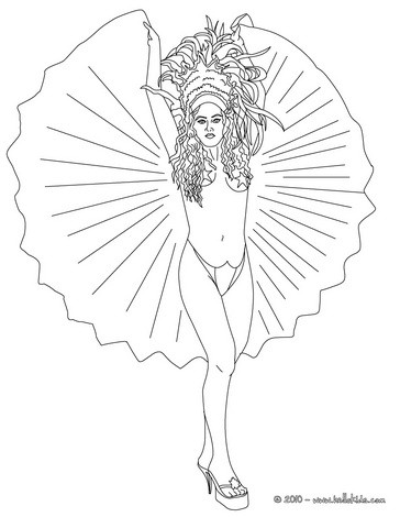 Brazil Pandeiro Coloring Pages