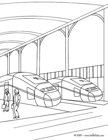 train station scene coloring pages hellokids com