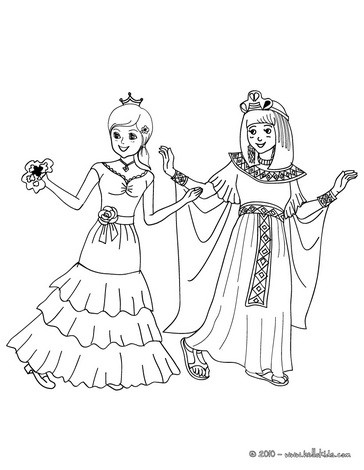 GIRLS CARNIVAL COSTUMES coloring page