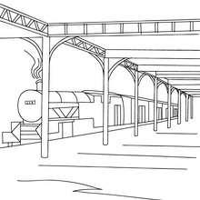 train station modern hall railway station hall coloring page coloring page transportation coloring pages train coloring pages