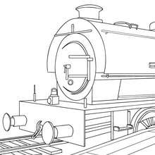 Old steam locomotive coloring page - Coloring page - TRANSPORTATION coloring pages - TRAIN coloring pages
