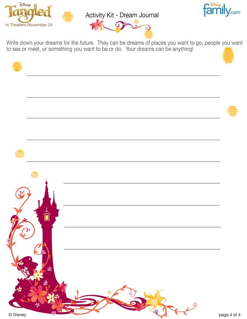 TANGLED Dream Journal