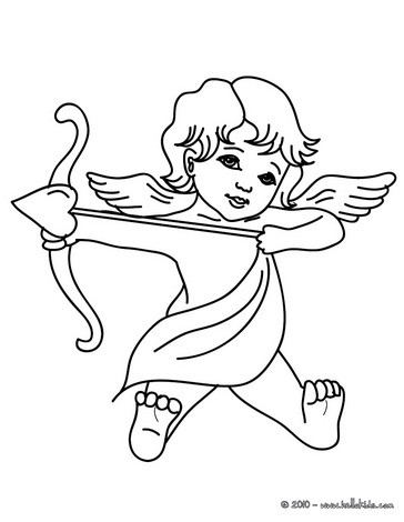 Angel of Love coloring page