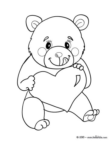 Love Bear Coloring Page