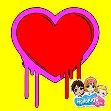 Valentine Graffiti Heart puzzle