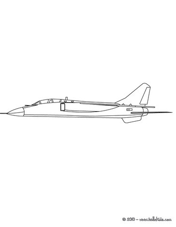 Small plane coloring page