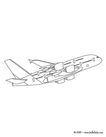 The biggest plane coloring page