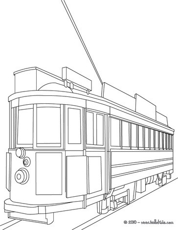 San Francisco old Tramway coloring page