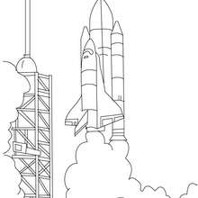 Nasa saturn v on the launch pad coloring pages - Hellokids.com