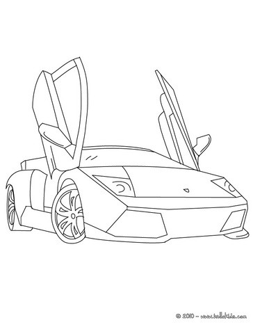 Lamborghini Gallardo Coloring Pages Hellokids Com