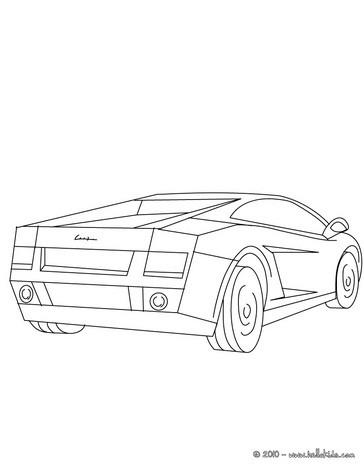 Zentorno Kleurplaat Lamborghini Gallardo Coloring Pages Hellokids Com