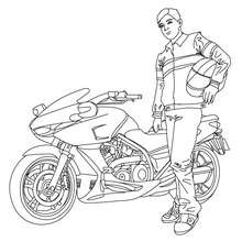 Harley Davidson Motorcycle Coloring Pages Hellokids Com