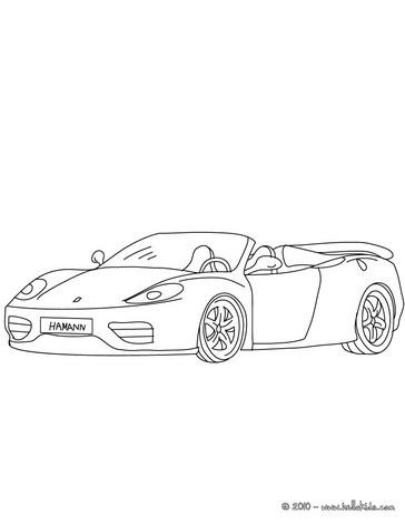 Ferrari 360 spider coloring pages - Hellokids.com