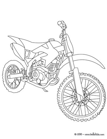Trail motorcycle coloring page