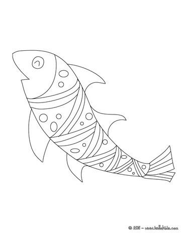 Strange fish coloring page