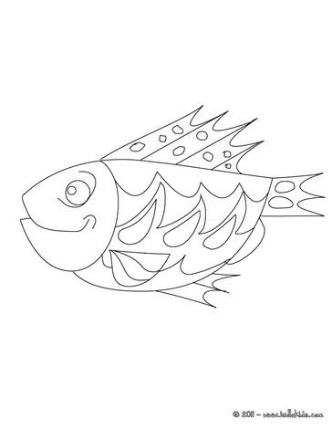 Poison d'avril coloring page